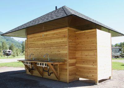 Fernie RV Resort washrooms & dishwashing