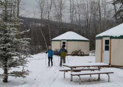 FRVR nordic skiers yurts