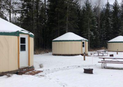 Fernie heated Yurts